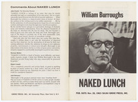 William Burroughs : Naked Lunch, font and back covers