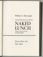 Naked Lunch, title page