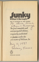 Junky, title page