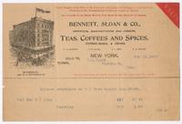 Bennett, Sloan & Co., bill or receipt