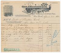 Geo. F. Bassett & Co., bill or receipt
