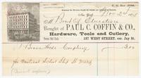 Paul C. Coffin & Co., bill or receipt