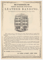 Kumbel's Patent Machine Stretched Leather Banding, flier