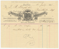 Butler Brothers, bill or receipt