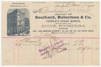 Southard, Robertson & Co., bill or receipt