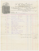 S. R. Van Duzer, bill or receipt