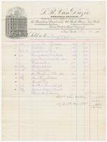 S. R. Van Duzer, bill or receipt