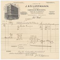 J.&G. Lippmann, bill or receipt