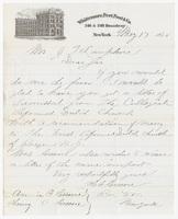 Whittemore, Peet, Post & Co., letter