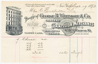 George B. Whitmore & Co., bill or receipt