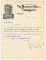 Mercantile Agency, letter