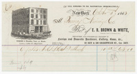 E. B. Brown & White, bill or receipt