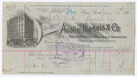 Austin, Nichols & Co., bill or receipt