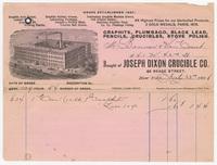 John Dixon Crucible Co., bill or receipt