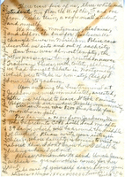 Letter to Ulysses Kay from Hinds County Jail, back