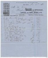 Mulford & Sprague, bill or receipt