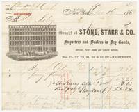 Stone, Starr & Co., bill or receipt