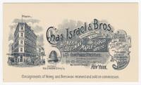 Chas Israel & Bros., postcard