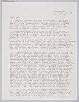 Letter from John Solum to Ulysses Kay regarding Aulos, pages 1 and 2