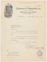 Zimmer & Dunkak, Inc., bill or receipt