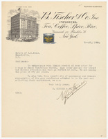 B. Fischer & Co., Inc., letter