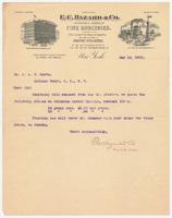 E. C. Hazard & Co., letter