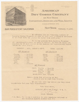 American Dry Goods Company, letter