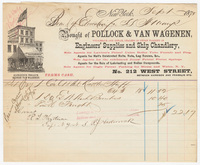 Pollock & Van Wagenen, bill or receipt