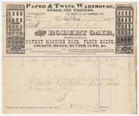 Robert Gair, bill or receipt