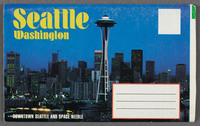 Seattle Washington. Recto of souvenir booklet cover
