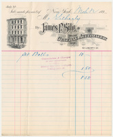 James P. Silo. Bill or receipt