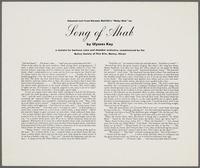 "Ulysses Kay's ""Song of Ahab"" program, insert"