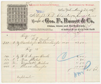 Geo. F. Bassett & Co., bill or receipt