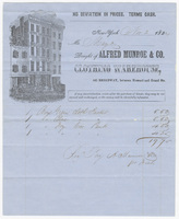 Alfred Munroe & Co., bill or receipt
