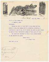 J. C. Dowd & Co., letter