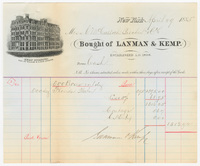 Lanman & Kemp. Bill or receipt