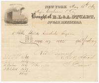R. L. & A. Stuart, bill or receipt