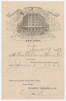 Thurber, Whyland & Co., bill or receipt