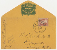 Sweeney's Hotel. Envelope