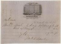St. Nicholas Hotel. Bill or receipt