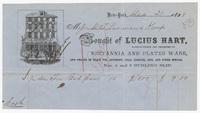 Lucius Hart, bill or receipt