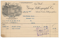 Gray Lithograph Co., bill or receipt