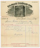 Elsas Paper Co., bill or receipt