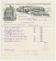 C. H. & E. S. Goldberg, bill or receipt