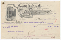 Mayor, Lane & Co. Bill or receipt