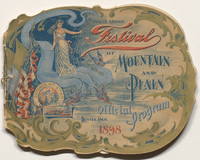 Fourth Annual Festival of Mountain and Plain : official program. Cover.