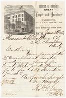 Robert G. Gregg's Great Carpet and Furniture Warehouse, letter