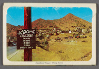 Jerome Arizona: largest ghost city in America. Verso of souvenir booklet cover