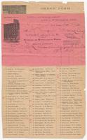 Frank F. Lovell & Co. Bill or receipt