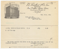 B. Fischer & Co., Inc., bill or receipt